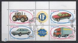ITALIA  1984  AUTO  Blocco  Usato - 6. 1946-.. Repubblica