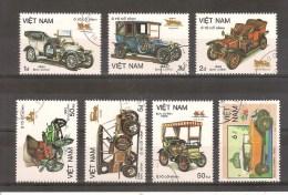 VIETNAM - LOT DE 7 TIMBRES OBLITERES - AUTOMOBILES - CARS - VOITURES - Vietnam