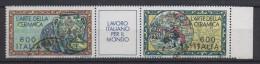 ITALIA  1985  LAVORO ITALIANO NEL MONDO  Coppia Usata - 6. 1946-.. Repubblica