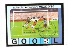 VIETNAM - BLOC FEUILLET OBLITERE - SPORT - FOOTBALL - Vietnam