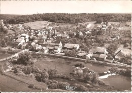 FESCHES-LE-CHATEL (25) Le Canal Et Le Temple - Vue Aérienne En 1963 CPSM  GF - France