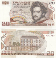 20 Schilling Banknote Österreich Moritz M Daffinger  Bankfrisch - Oesterreich
