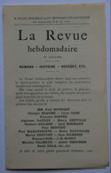 Dépliant La Revue Hebdomadaire (liste Romans 1892-1895) - Advertising