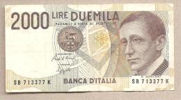 """Italia - Banconota Circolata Da 2000 Lire """"Marconi"""" P-115 - 1992 - 2000 Lire"""
