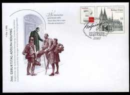 29282) BRD - Ganzsachen-Umschlag USo ? - OO EVST 5.12.2013 - 3C Neben 55C 200. Geb. A. Kolping - Kirche - [7] West-Duitsland