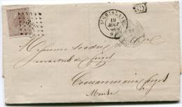 BELGIQUE LETTRE AFFRANCHIE AVEC LE N°19 OBLITERATION 322 DEPART ST GHISLAIN 19 AOUT 68 POUR LA FRANCE - Postmarks - Points