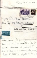 STORIA POSTALE-SU BUSTA-VIA AEREA-POSTA MILITARE-19-2-1941 E LETTERA DI 2 PAGINE FOGLIO DOPPIO SCRITTE - - Posta