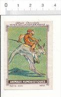 Image / Animaux Humoristiques / Métier Jockey Singe Sur Kangourou  Kangaroo Animal Humour  // IM 21-KC2/1 - Nestlé
