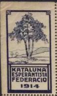 ESPERANTO - ERINNOFILO KATALUNA ESPERANTISTA FEDERACIO 1914 - Esperanto