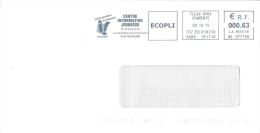 EMA - Flamme Machine à Affranchir Sur Enveloppe Entière - Centre Information Jeunesse Angoulême (écopli 08-10-2015) - Poststempel (Briefe)
