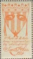 ESPERANTO - ERINNOFILO II FESTO DE LA KALALUNAJESPERANTISTAJ OKULVITRULOJ SANT FELIN  1914 - Esperanto
