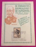 ESPERANTO - XI CONGRESSO BRASILEIRO DE ESPERANTO  SAO PAULO - BRASIL  1947 - Esperanto