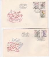 TCHECOSLOVAQUIE - N° 2328 A 2332 SUR 2 LETTRES -THEME FLEURS  ANNEE 1979