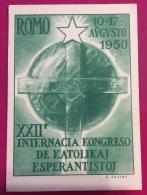ESPERANTO - ROMO 1950 XXII INTERNACIA KONGRESSO DE KATOLIKAJ ESPERANTISTOJ - ROMA CONGRESSO CATTOLICI ESPERANTISTI - Esperanto