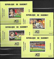 Dahomey Série Complète Blocs De Luxe ND/imperf/B CM 74 ** - Coppa Del Mondo