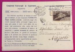 ESPERANTO - CONGRESSI UNIVERSALI DI ESPERANTO AGOSTO ROMA 1935 - XXVII  -  VIENNA 1936 - XVIII -FED. ESPER.ITALIANA - Esperanto