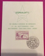 ESPERANTO - BELO HORIZONTE MINAS CERAIS  BRAZILO - XII BRAZILA KONGRESO  DE ESPERANTO 1949 - Esperanto