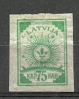 LETTLAND Latvia 1919 Michel 14 C * - Latvia