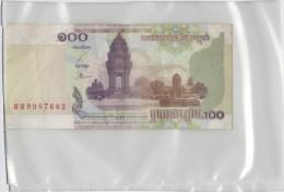 Cambodge 100 Riels 2001 P53 Circulé - Cambodge
