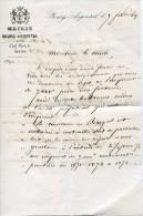 Lettre Du Maire De Bourg-Argental (Loire), 7/2/1869 - Historical Documents