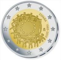 Spanje  2015    2 Euro Commemo 30 Jaar Europese Vlag (gezamelijke Munt)      UNC Uit De Rol  UNC Du Rouleaux !! - España