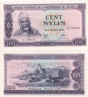 GUINEA  100  Sylis   1971   P19    AUNC - Guinée