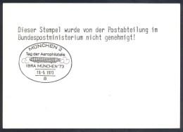 Deutschland Germany Airships Zeppelin 1973: Tag Der Aerophilatelie IBRA München '73 60 Jahre Deutsche Luftpost 1913 1973 - Airships