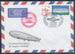 Deutschland Germany Airships Zeppelin 1979 Air Mail Cover: LZ 127 Luftschiff Graf Zeppelin 1929 Weltrundfahrt Essen - Airships
