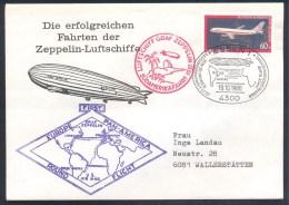 Deutschland Germany Airships Zeppelin 1980 Cover: LZ 127 Luftschiff Graf Zeppelin 1930 Südamerikafahrt - Airships