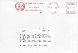 MONTBRISON 1993 AME Machine NL Enfant Jeunesse Bébé La Joie De Vivre Enveloppe Raccourcie - Childhood & Youth