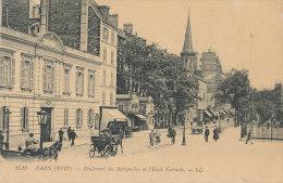 YY 296 / C P A -  PARIS     (75)   BOULEVARD DES BATIGNOLLES ET L'ECOLE NORMALE - Arrondissement: 17