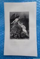 Gravure Ancienne :Satan, Le Péché Et La Mort  -D´aprés Staal Del -  Ferd. Delannoy Sculpteur - Estampes & Gravures