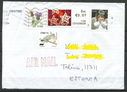 IRLAND IRELAND 2015 Air Mail Letter To Estonia - Storia Postale