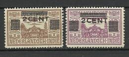 NEDERLAND-INDIE Netherland-India 1934 Michel 200 - 201 * - Niederländisch-Indien