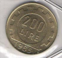 ITALIA REPUBBLICA - 1985  Lire  200  FDC Da Zecca - 200 Lire