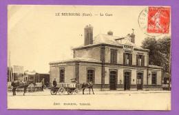 1927 :  27 : LE NEUBOURG , LA GARE :SEPIA - Autres Communes