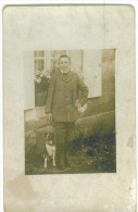 Carte Photo  D'un Enfant Avec Son Chient  1916 - Scenes & Landscapes