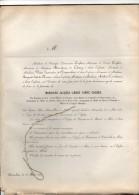 Comte COGHEN +Bruxelles 15/5/1858 Ministre Senaat Ukkel Mosselman Du Chenoy Limnander De Nieuwenhove Licot De Mismes - Todesanzeige