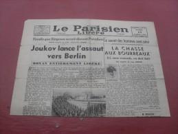 Le Parisien Liberé  Mardi  17 Avril 1945 - Magazines & Papers