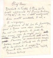 FORTUNATO BELLONZI, Lettera Di Una Pittrice, Senza Data,che Conferma La Presenza A ROMA  Del Famoso Critico D'arte - Partecipazioni