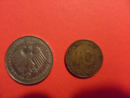 GERMANIA   2 MARCHI 1988 + 10 PFENNING 1966 - [11] Collections