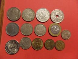 BLOCCO   14  MONETE   DIVERSE  MONDIALI - Mezclas - Monedas