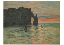 CPM 54 Nancy - Musée Des Beaux-Arts. Coucher De Soleil à Etretat Par Claude Monet TBE - Nancy