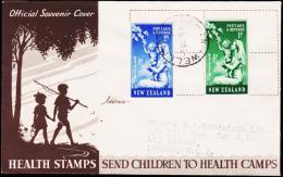 1949. HEALTH STAMPS 2 Ex. FDC WELLINGTON 3 OC 49.  (Michel: 307-308) - JF190406 - FDC