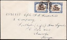 1946. 2x 70C/1 Sh. NAIROBI 6 FE 1946.  (Michel: 79/78) - JF190398 - Briefmarken