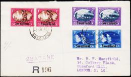 1945. 2WW 3x 2 Ex. Swaziland FDC MBABANE 3.XII 45.  (Michel: 38-43) - JF190399 - Briefmarken
