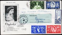 1953. ELISABETH II 4 Ex. FDC BOURNEMOUTH 3 JUNE 53.  (Michel: 274-277) - JF190382 - FDC