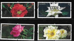 CANADA, 2001, #1911-14, USED, ROSES, SET 4 STAMPS   USED - Carnets