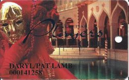Venetian Casino Las Vegas 5th Issue Slot Card With Smaller Players (Printed) - Casino Cards