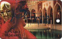 Venetian Casino Las Vegas 6th Issue Slot Card With Smaller Players & Innovative (DENARO) - Casino Cards